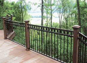 stair cases with wrought iron outside | Wrought Iron Railings