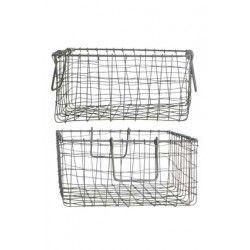 """Kurve """"Wire"""" - Lækre trådkurve fra House Doctor.  Brug dem til opbevaring af fx frugt og grønt, huer og vanter, strikketøj og magasiner.  Findes i størrelse L."""