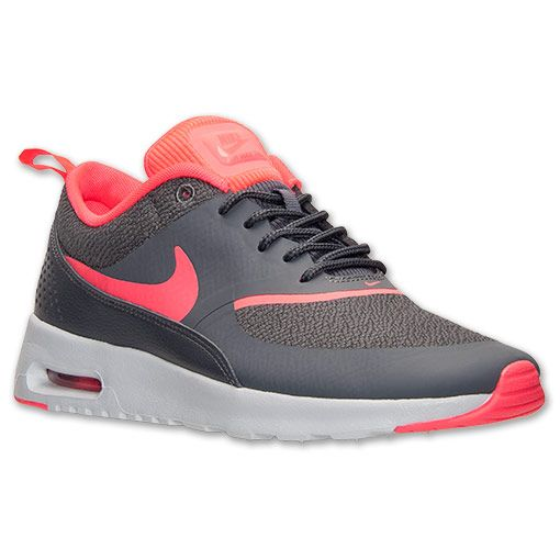 Women's Nike Air Max Thea Running Shoes | Finish Line | Dark Grey/Hyper Punch/Pure Platinum size 8.5