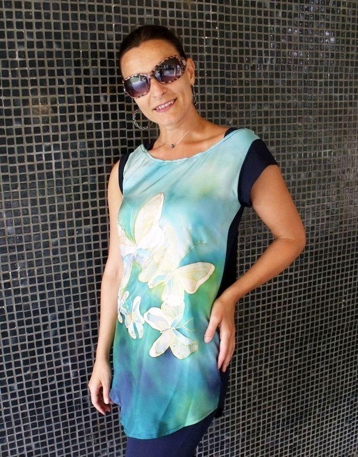 Kézzel festett selyem felsők, blúzok:  http://silkyway.hu/selyem-alkalmi-ruha-silkyway-selyemfestes.html