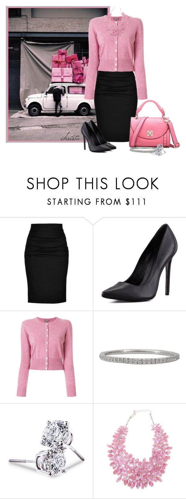 """A Pink Packaged Christmas"" by christa72 ❤ liked on Polyvore featuring Paule Ka, Schutz, N.Peal, Mattia Cielo, Lord & Taylor and TWIST'N'SCOUT"