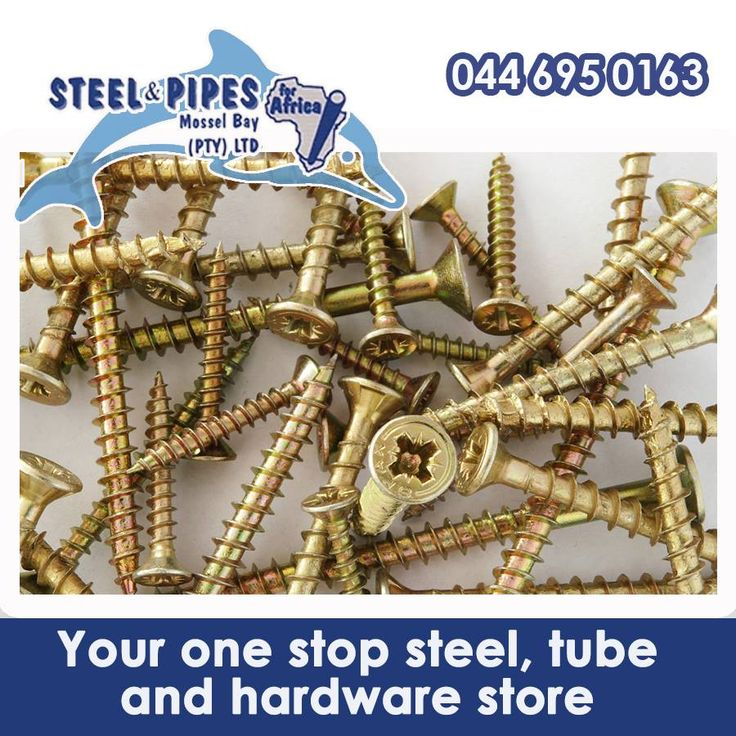 At Steel & Pipes, Mossel Bay you can find a wide variety of products. We stock almost everything any contractor or DIY enthusiast would need, including special screws and other fasteners. #diy #construction #homeimprovement