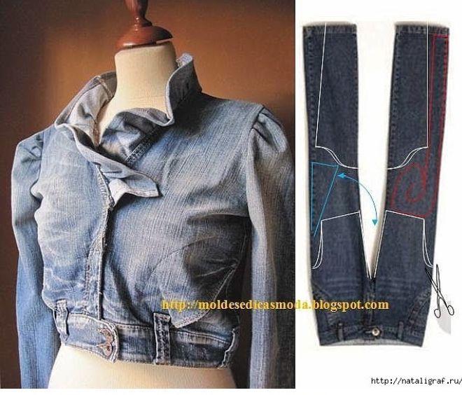 Джинсовое платье сшить из старых джинсов