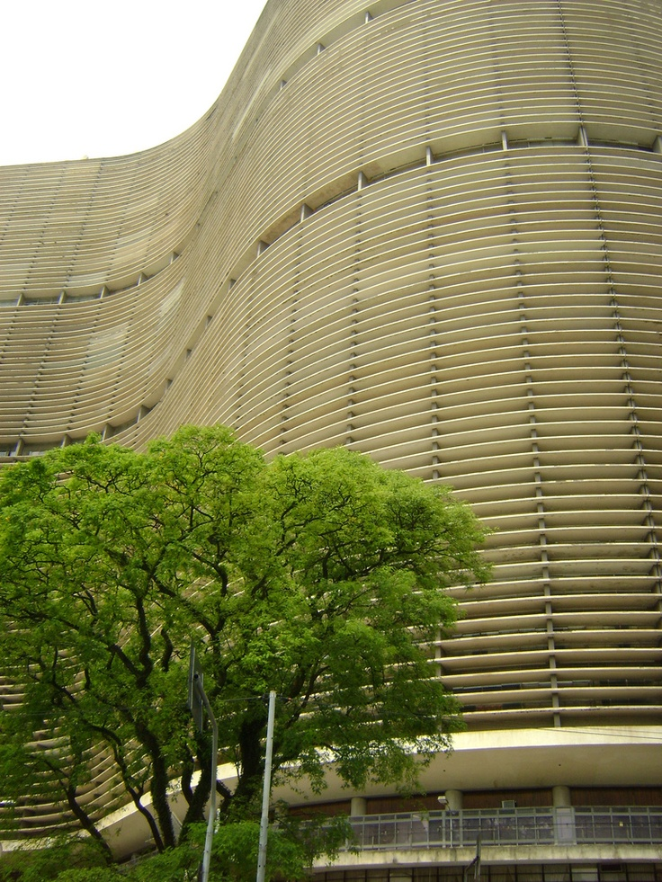 Edificio Copan is the largest residential building in Sao Paulo. Designed by Oscar Niemeyer in the 50's is still a landmark and a must see in the old downtown.