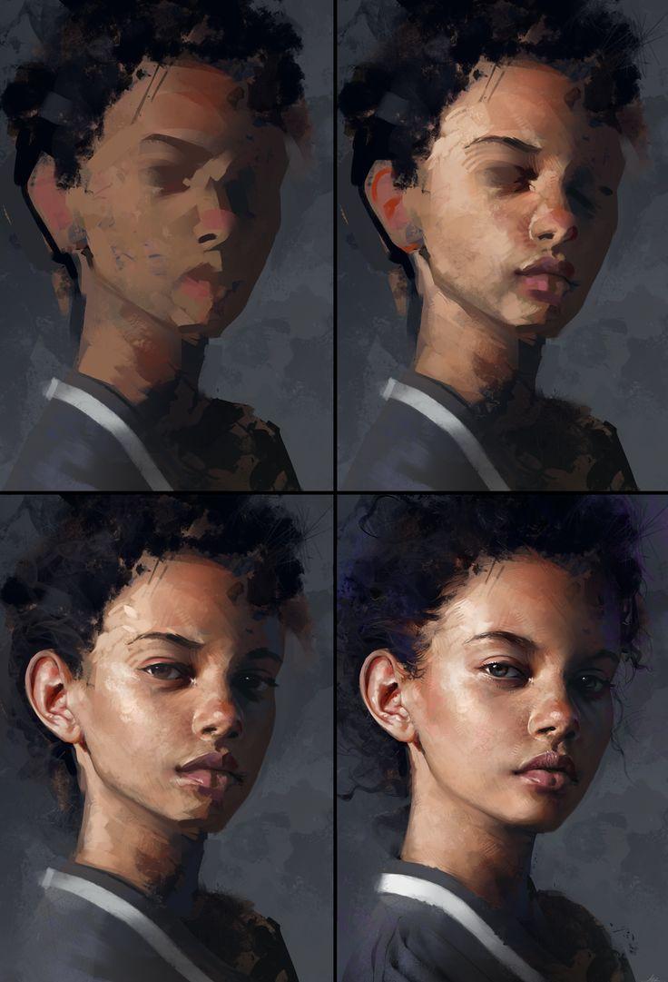 Marina Nery Study - Process by AaronGriffinArt.deviantart.com on @DeviantArt