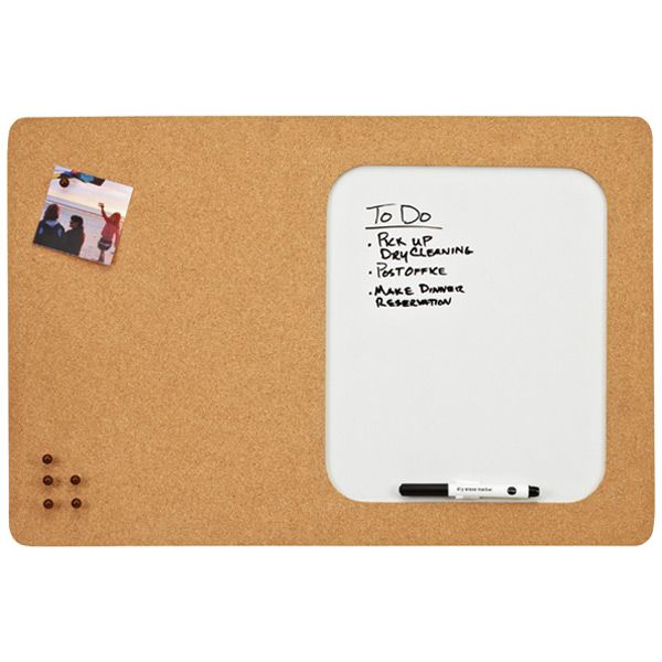 Info Center Cork & Dry Erase Board