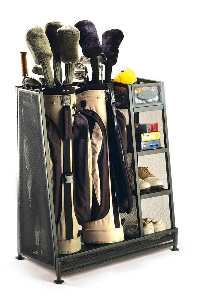 Lovely Suncast Golf Organizer, Show Your Golf Clubs The Love They Deserve By  Storing Them Properly. The Suncast Golf Organizer Has Room For Two Golf  Bags, ...