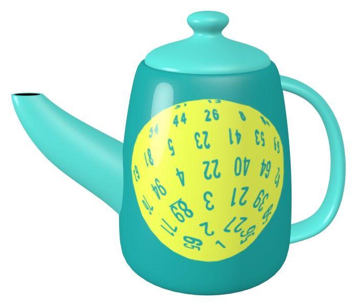 D100 Dice Teapot / #Tableware
