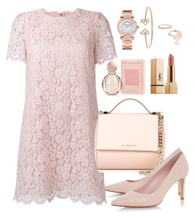 """""""Pastel chic"""" by pitaa29 on Polyvore featuring Dolce&Gabbana, Givenchy, Chopard, Accessorize, Yves Saint Laurent and Bulgari"""