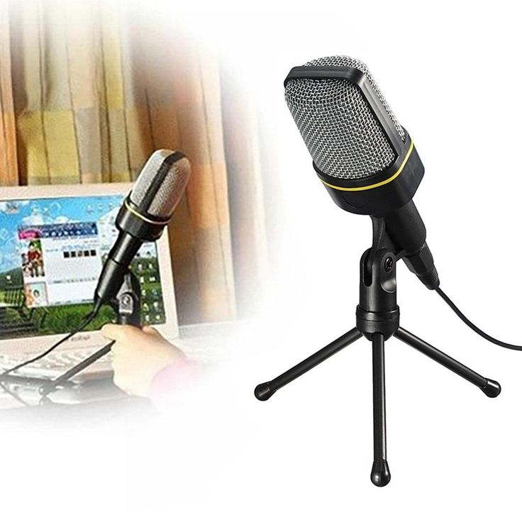 Desktop mic stand, mic clip. Convenientlyset with the help of themini desktop tripod (Included). High quality mic ,perfect voice recorder. 3.5mm stereo jack plug fits for all kinds of PC. Plug and play, no extra gear needed. | eBay!