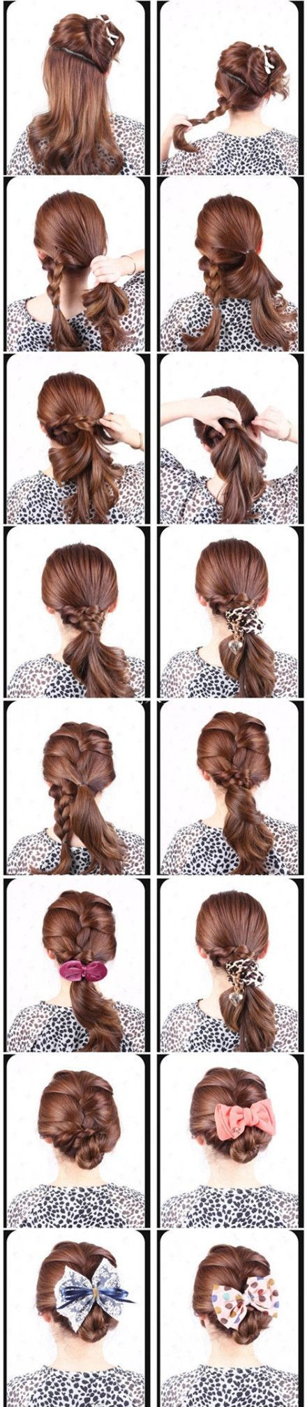WOW, so many cute and easy hairstyles and easy visual how-tos!!