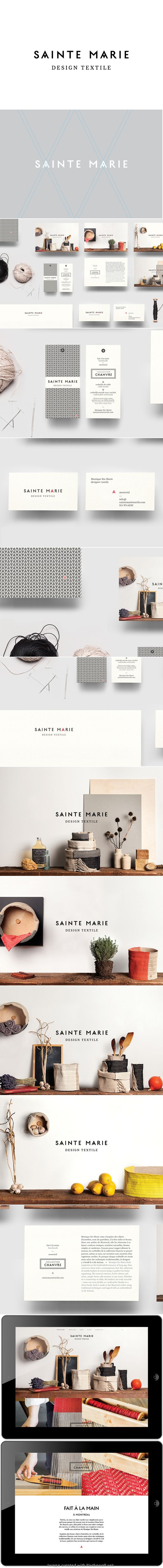 Sainte marie corporate identity branding graphic textile design business card website label