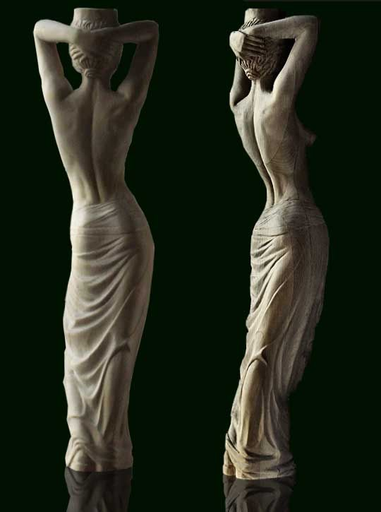 Alexander Perov ~ Bliss ~ Carved Wooden Sculpture