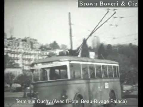 Lausanne / Le premier trolleybus de Suisse 1932