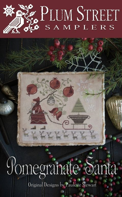 "PLUM STREET SAMPLERS ""Pomegranate Santa"" 