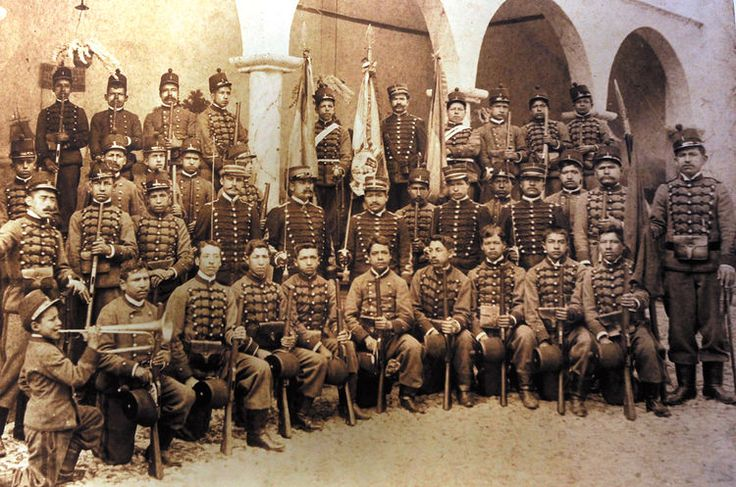 Soldados bolivianos durante la guerra del pacífico