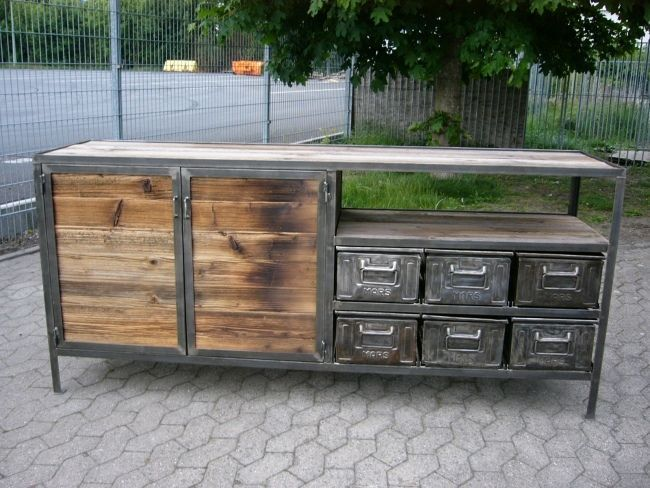 Anrichte Industrie Design Fabrik Style Sideboard Wahnsinn