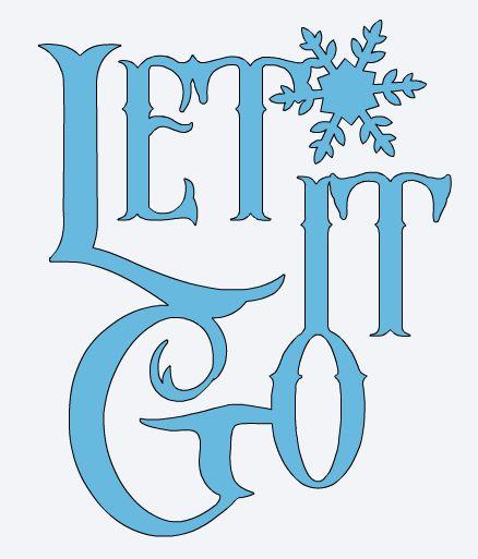 Disney's Frozen Cricut images- Let It Go