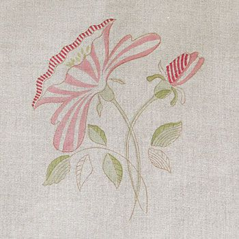 Pink Rose Linen Fabric - 303