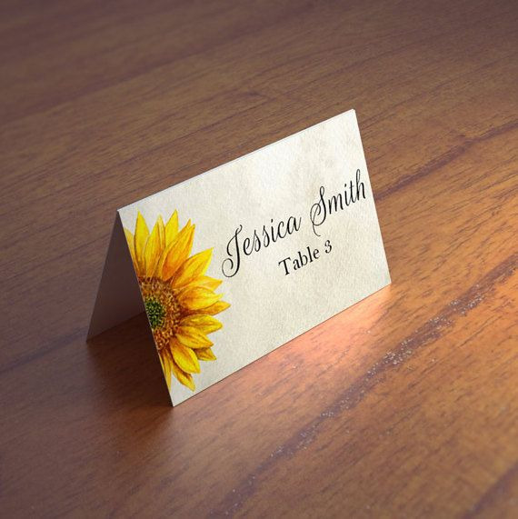 rustic wedding place card wedding placecards by