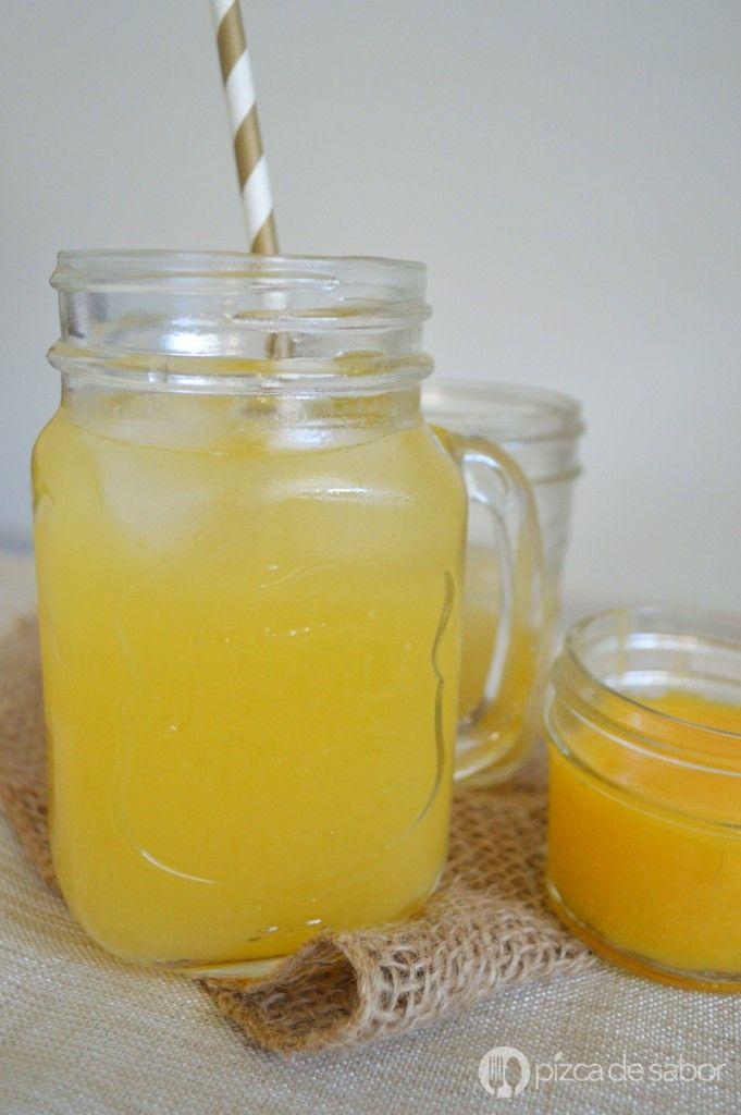 Limonada de mango | http://www.pizcadesabor.com