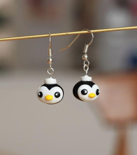 OCTONAUTS - Peso Penguin - Handmade polymer clay earrings