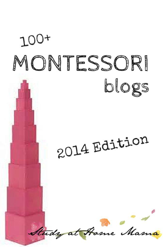 100+ MONTESSORI blogs at Study at Home Mama