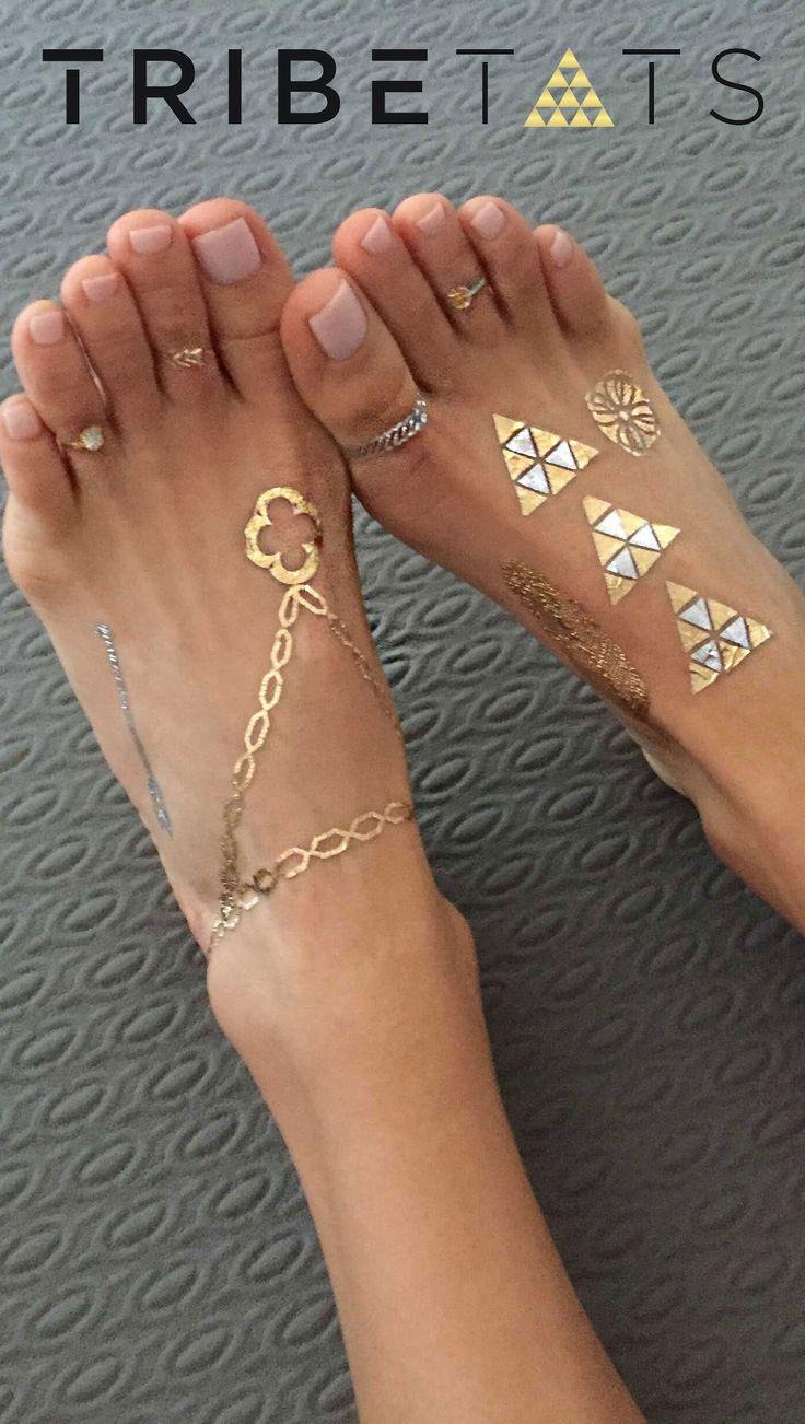 Follow @tribetats on Pinterest for metallic tattoo & style inspiration