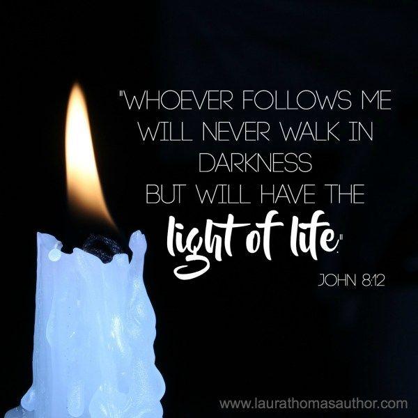 """John 8:12 #light #lightoftheworld """"WHEN WE LET IT SHINE"""" #Christianblog"""