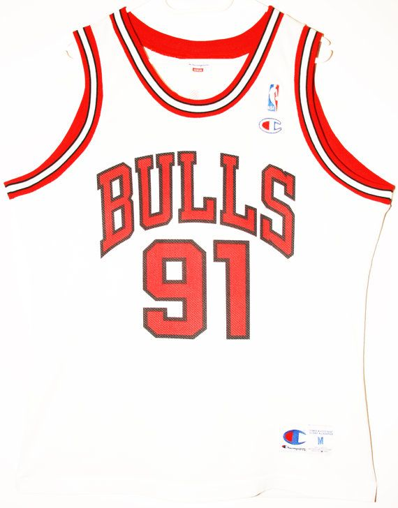 Champion NBA Basketball Chicago Bulls #91 Dennis Rodman Trikot/Jersey Size 40 - Größe M - 79,90€ #nba #basketball #trikot #jersey #etsy #sport #fitness #fanartikel #merchandise #usa #america #fashion #mode #collectable #memorabilia #allbigeverything