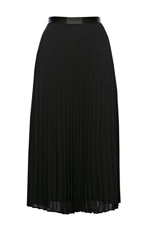 26cab866ae38 Black Pleated Midi Skirt | Wallis | Black pleated midi skirt, Pleated midi  skirt, Skirts