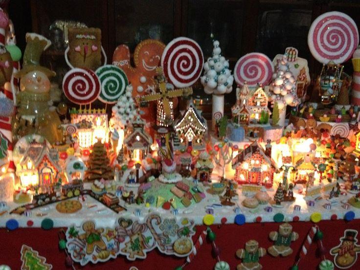 An amazing Lemax Sugar N Spice Village display