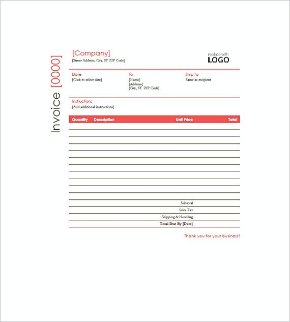 577 Best Invoice Template Images On Pinterest | Invoice Template