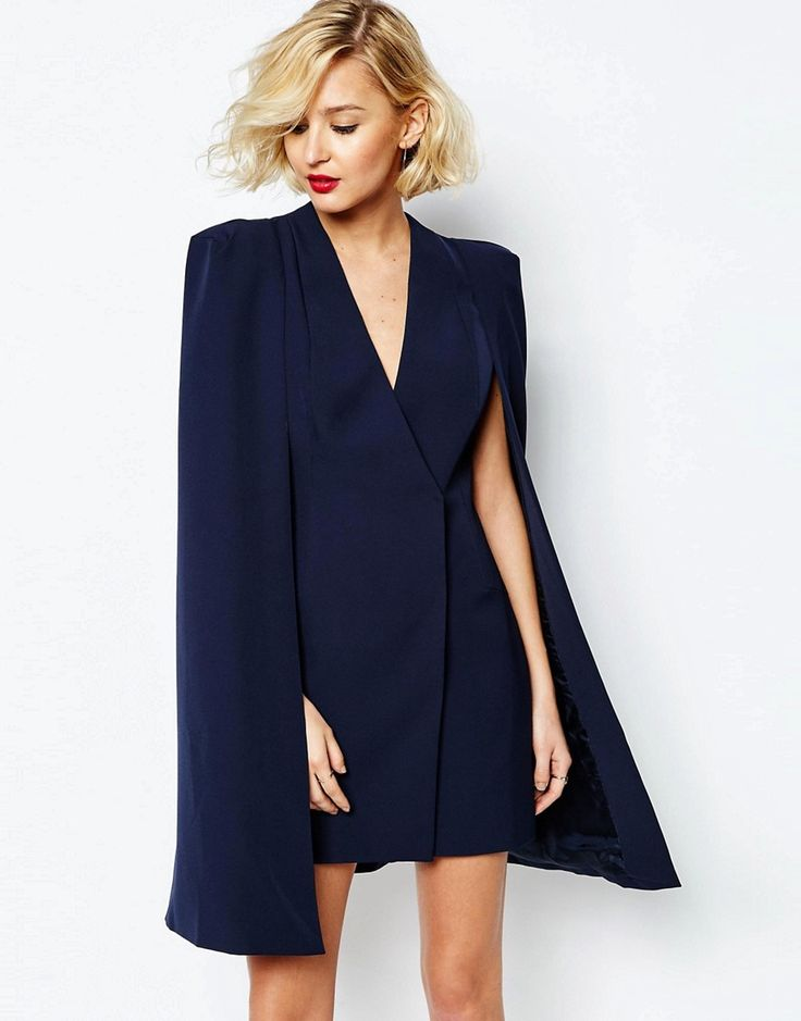 Lavish+Alice+Split+Back+Cape+Dress