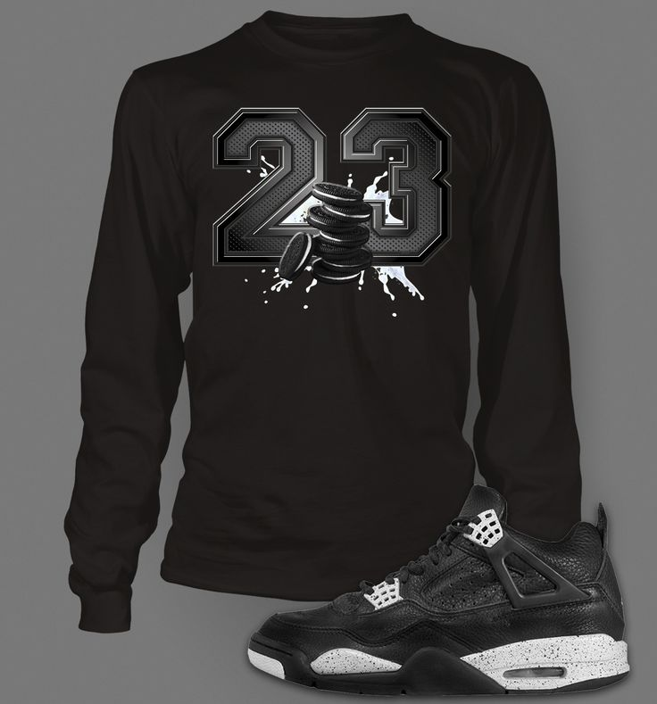 Long Sleeve Custom T-shirt To Match Retro Air Jordan 4 Oreo