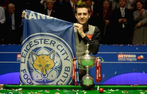 Mark Selby and the Crucible trophy