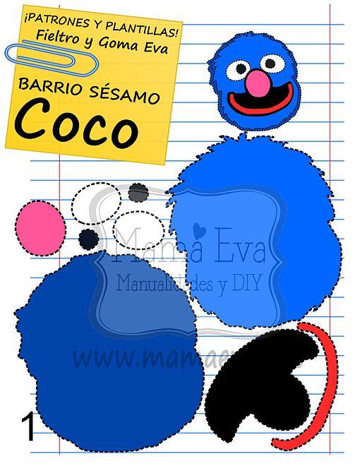 Plantillas personajes Barrio Sésamo TV