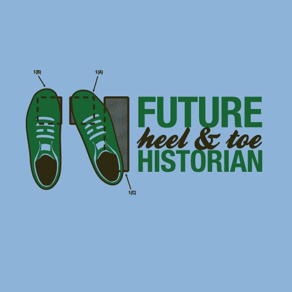 """The """"Historian 2 (Feet)"""" tee - by Emile Bouret - (Sold out 02/18/13). Like blipshift to be alerted to new shirts."""