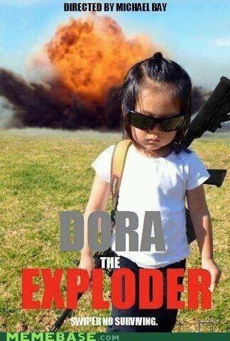 i'd pay money to see this. hahaha: Girl, Dora, Random, Funny Stuff, Humor, Funnies, Things, Kid