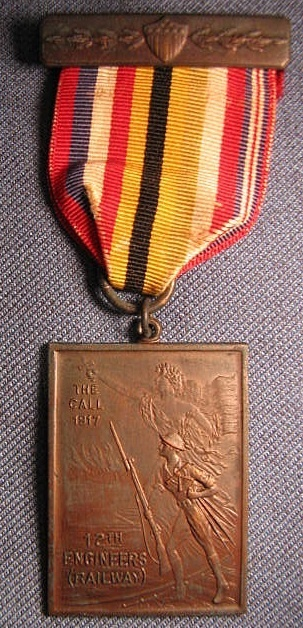 St Louis MO WWI Victory Medal for Members of 12th Engineers Railway
