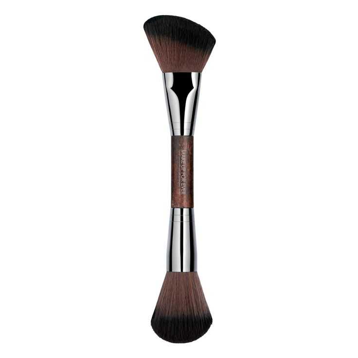 Double-ended Sculpting Brush - 158 - Face Brush – MAKE UP FOR EVER