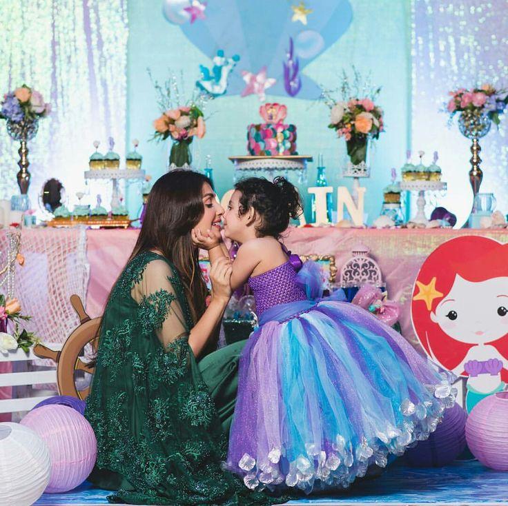 Beautiful Ayeza Khan with Hoorain on Hoorain's Birthday Celebration Party! #Beautiful #AyezaKhan #Hoorain #BirthdayCelebration #ThemeMermaid #PakistaniFashion #PakistaniActresses #PakistaniCelebrities