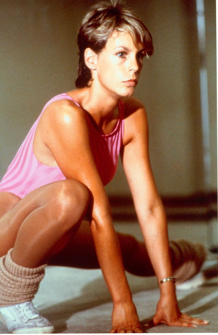 Jamie Lee Curtis In Fitness Outfit 80s Aerobics