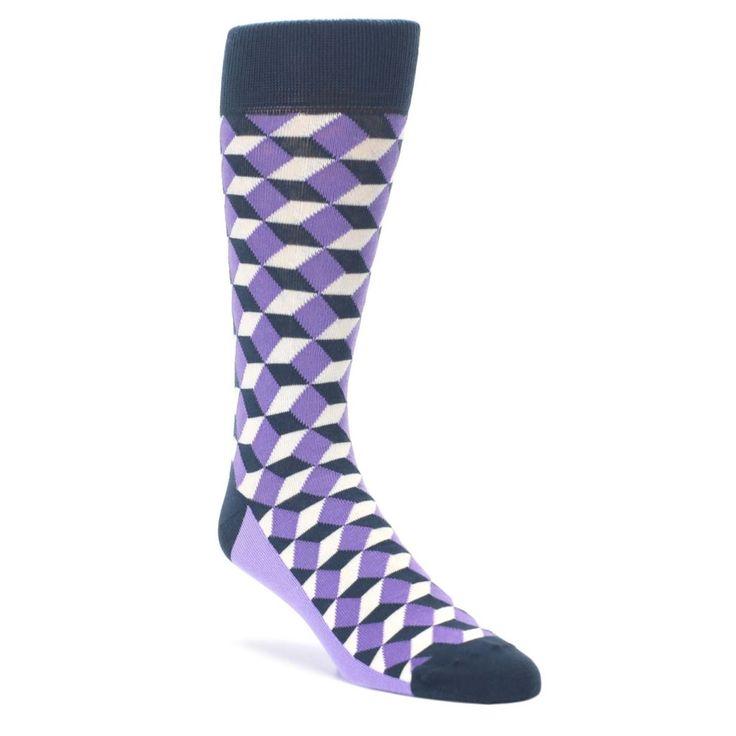 Purple Beeline Optical Men's Dress Socks by Statement Sockwear