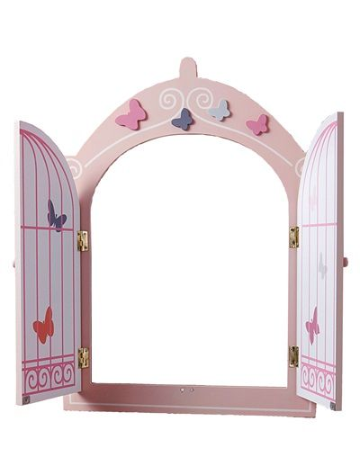 Butterfly Theme Mirror with Doors Powder pink