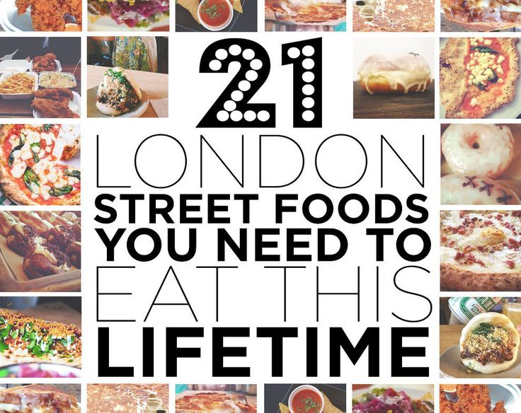 It's no secret that London has endless things to eat.