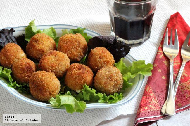 Receta de croquetas de queso roquefort