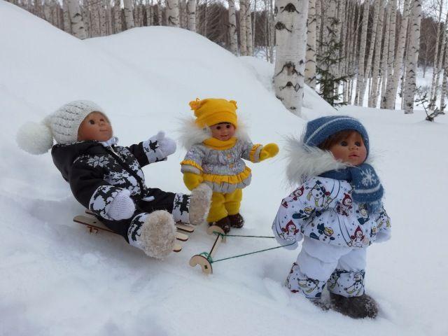 Проводы зимы? А вихтелятам нравится зима / Коллекционные куклы Rosemarie Anna Muller dolls, Розмари Мюллер / Бэйбики. Куклы фото. Одежда для кукол
