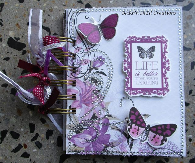 BaRb'n'ShEll Creations Kaisercraft Violet Crush Mini Album - made by Shell