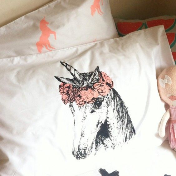 Burrow & Be - Collab Unicorn Pillowcase - What's New - Ragamuffins New Zealand